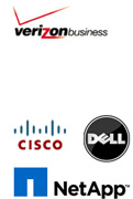 verizon, cisco, netapp, dell