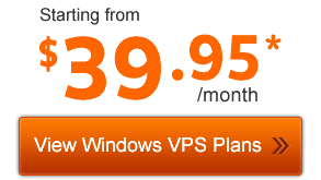 View Windows VPS Plans from $39.95/month