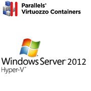 parallels virtuozzo containers, windows server 2008 hyper v